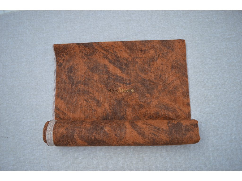 Bavlněné plátno Loneta hnědý mramor Kód 1081-1006