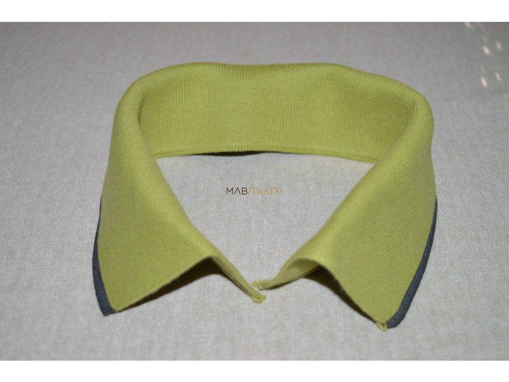 Límeček 100% Ba olivový s tm. zeleným pruhem  Kód 0000-13405/P