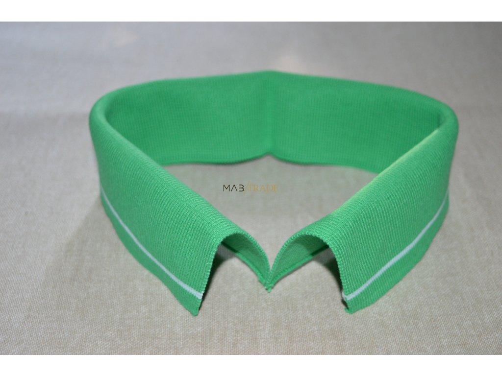 Límeček 100% Ba zelený bílý pruh tenký Kód 0000-1403/P