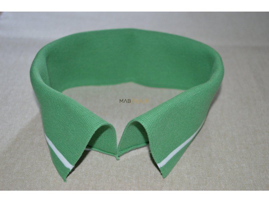 Límeček 100% Ba  zelený bílý pruh silný Kód 0000-24502/P