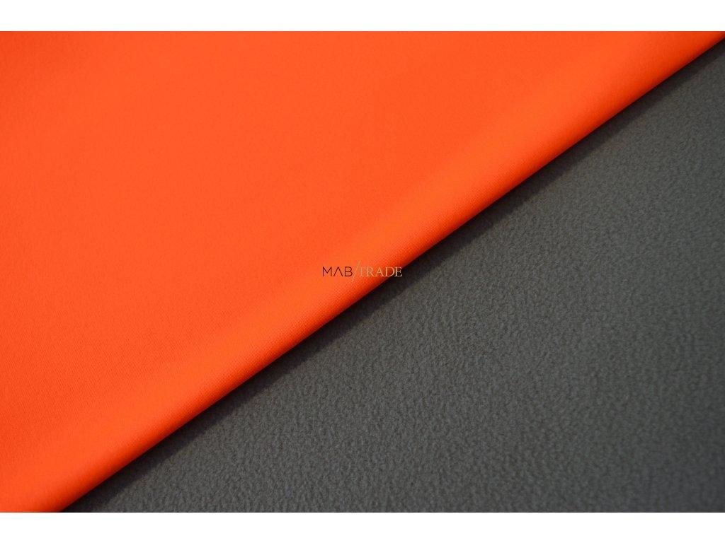 Elactický SOFTSHELL  s FLEECEM Neonově Oranžová/šedá Kód  7003-0002
