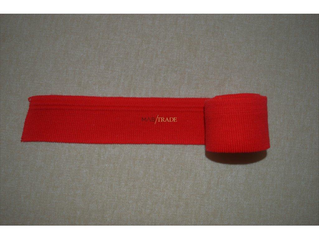 Manžeta červená s žakárovým pruhem 115 cm Kód 0005-1102