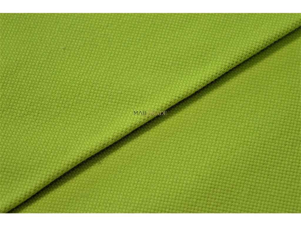 Bavlněný úplet - Piké 100% Ba  jasně Zelená Kód 5200-14811