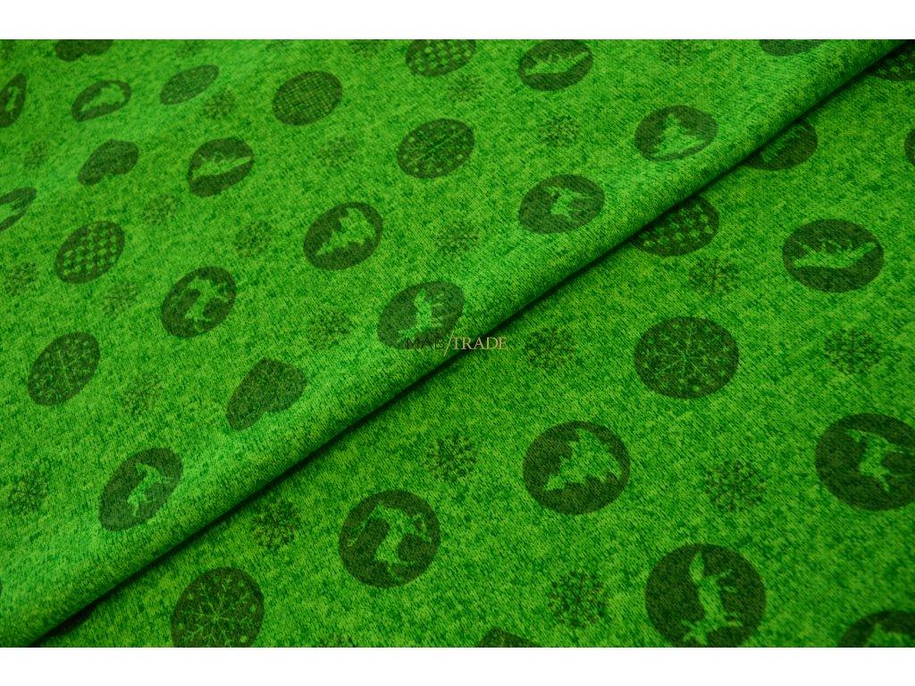 SVETROVINA tisk - neon zelená Kód 6413-9006