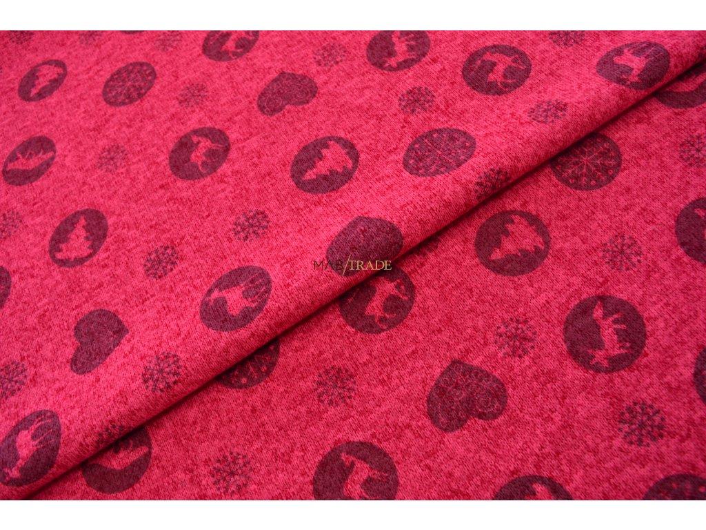 SVETROVINA tisk  - neon růžová Kód 6413-9007