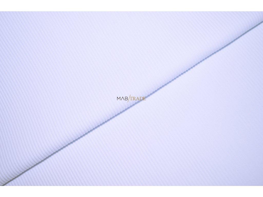 RIB 2x1 Hrubý Bílý Kód 6222-0101