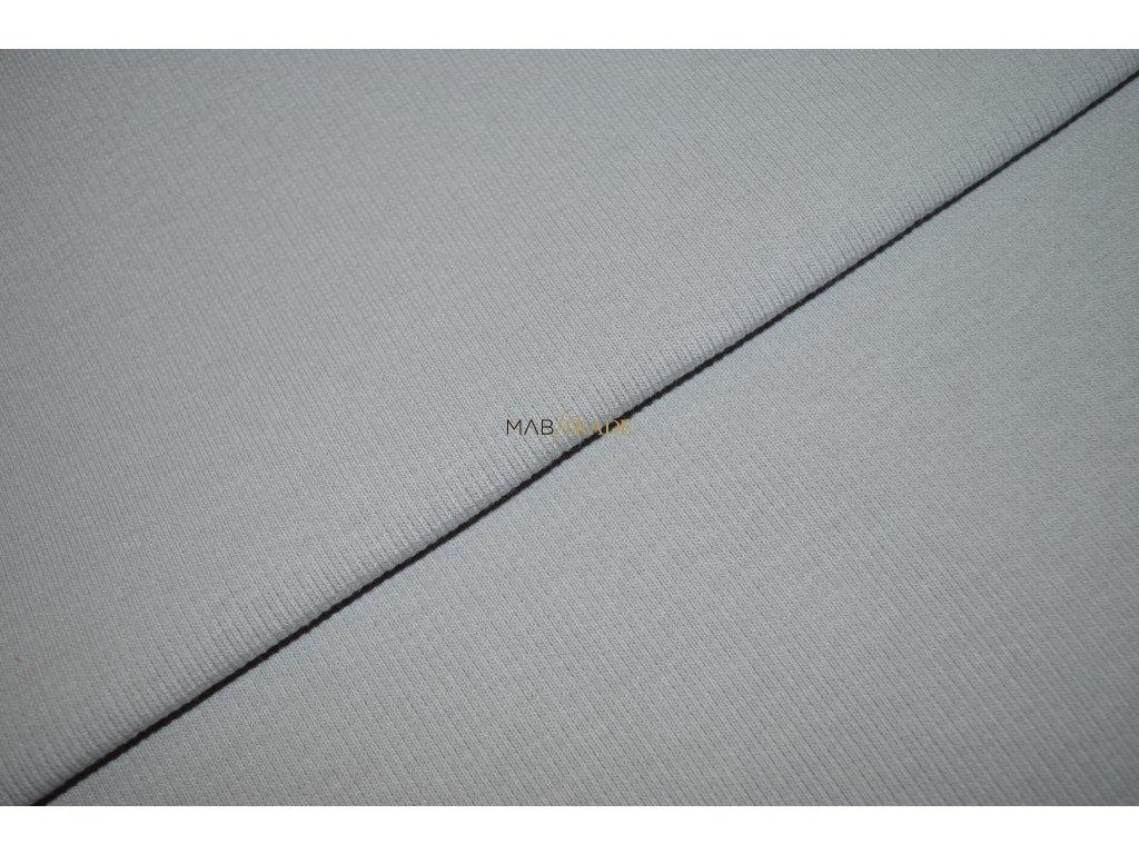 Bavlněný úplet - RIB 2x1 hrubý sv. Šedý Kód 6222-3000