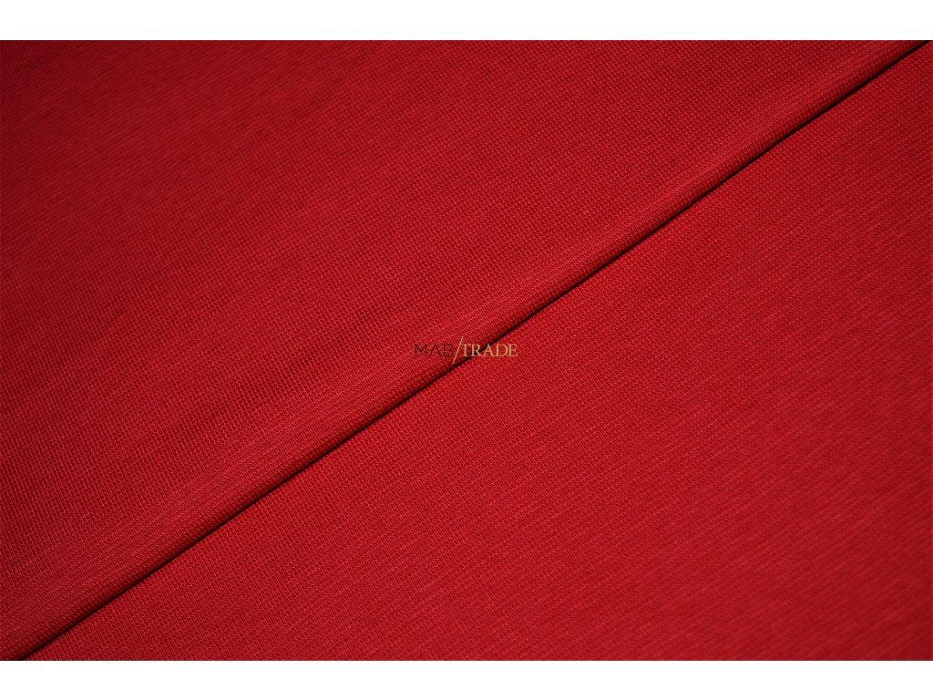 Bavlněný úplet - RIB 1x1 silný tm. Červená Kód 6221-11660