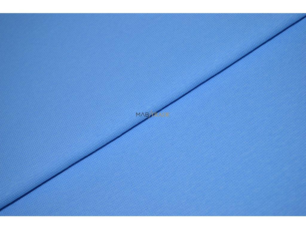 Bavlněný úplet - RIB 1x1 silný sv. Modrá Kód 6221-1802