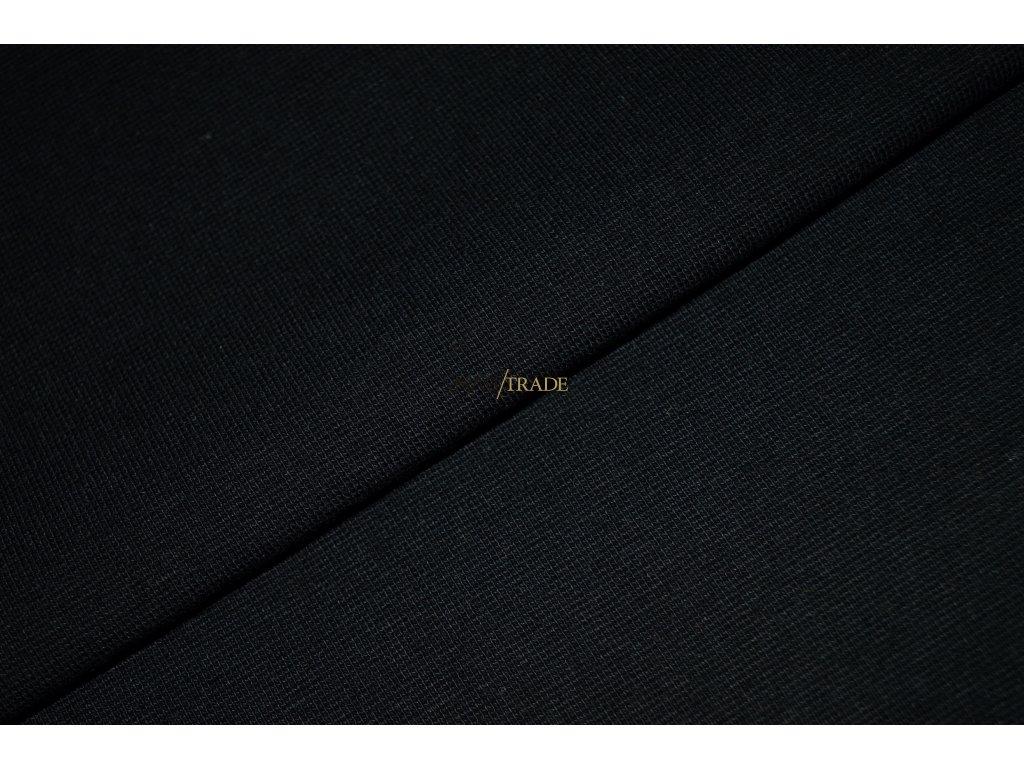 Bavlněný úplet - RIB 1x1 hladký Černá Kód 6201-4002