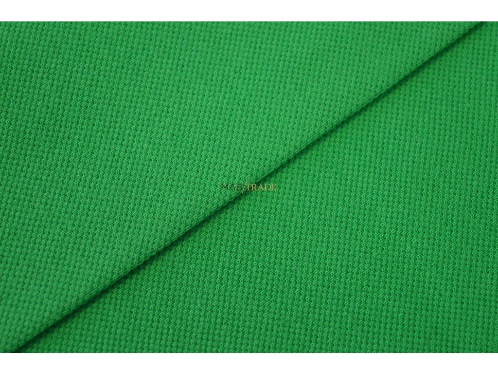 Bavlněný úplet - Piké 100% Ba Zelená Kód 5200-1403
