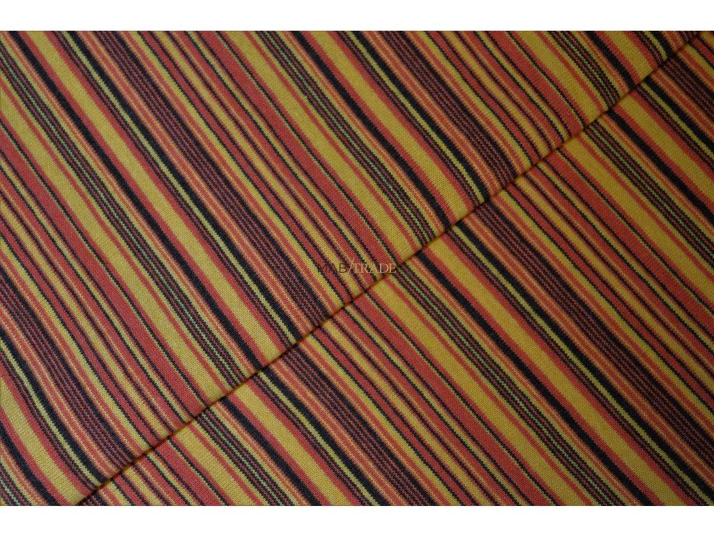 Bavlněný úplet - Pletenina jednolícní  tričkovina - pruhy Kód 2803-0100