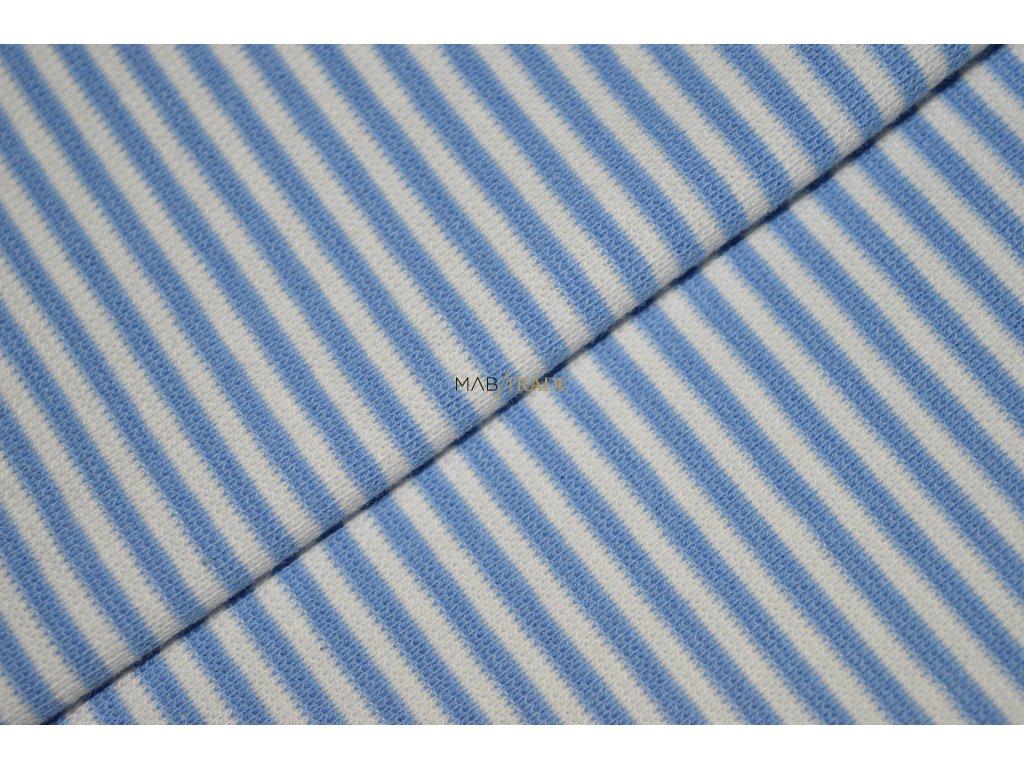 RIB 1x1 hladký modro bílý Pruh Kód 6202-0005/R