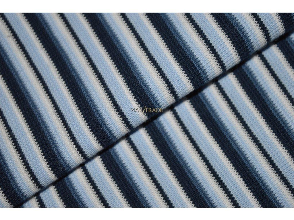 RIB 1x1 hladký modré odstíny Pruh Kód 6202-0004/R