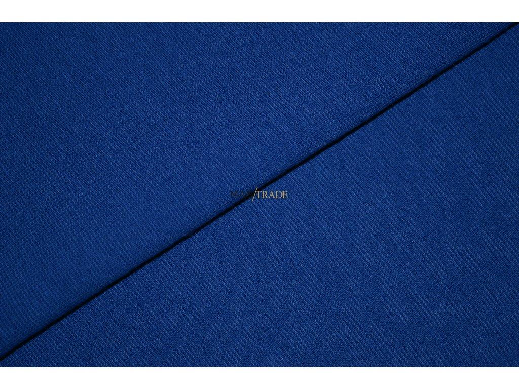 Bavlněný úplet - RIB 1x1 hladký Královská modrá Kód 6201-1902