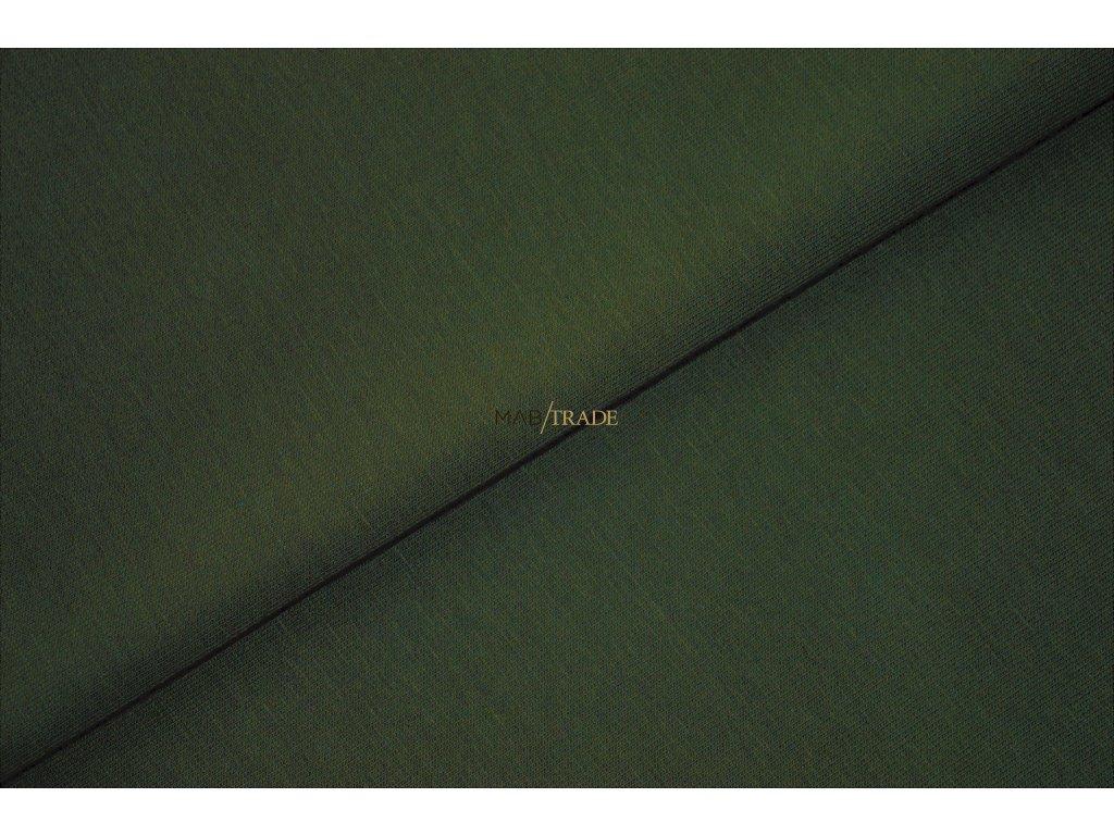 Elastická teplákovina s polyesterem Khaki Kód 4276-2806