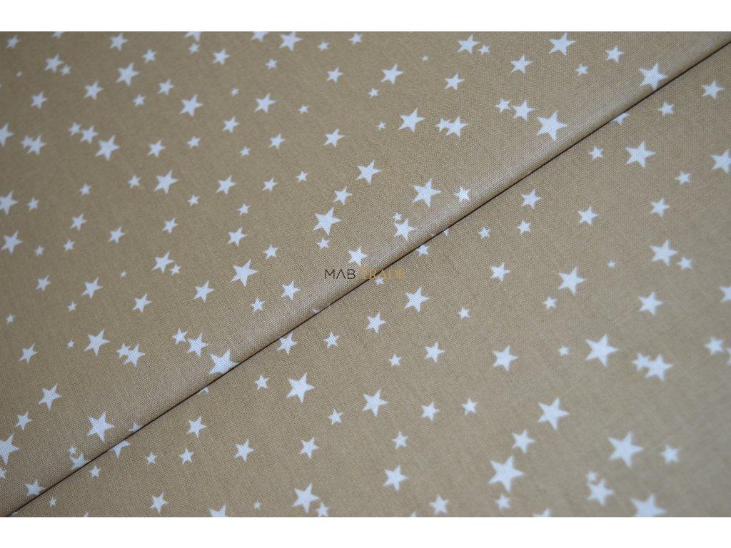 PLÁTNO 100% Ba Hvězdičky na svět. hnědé Kód 1031-8800(09)