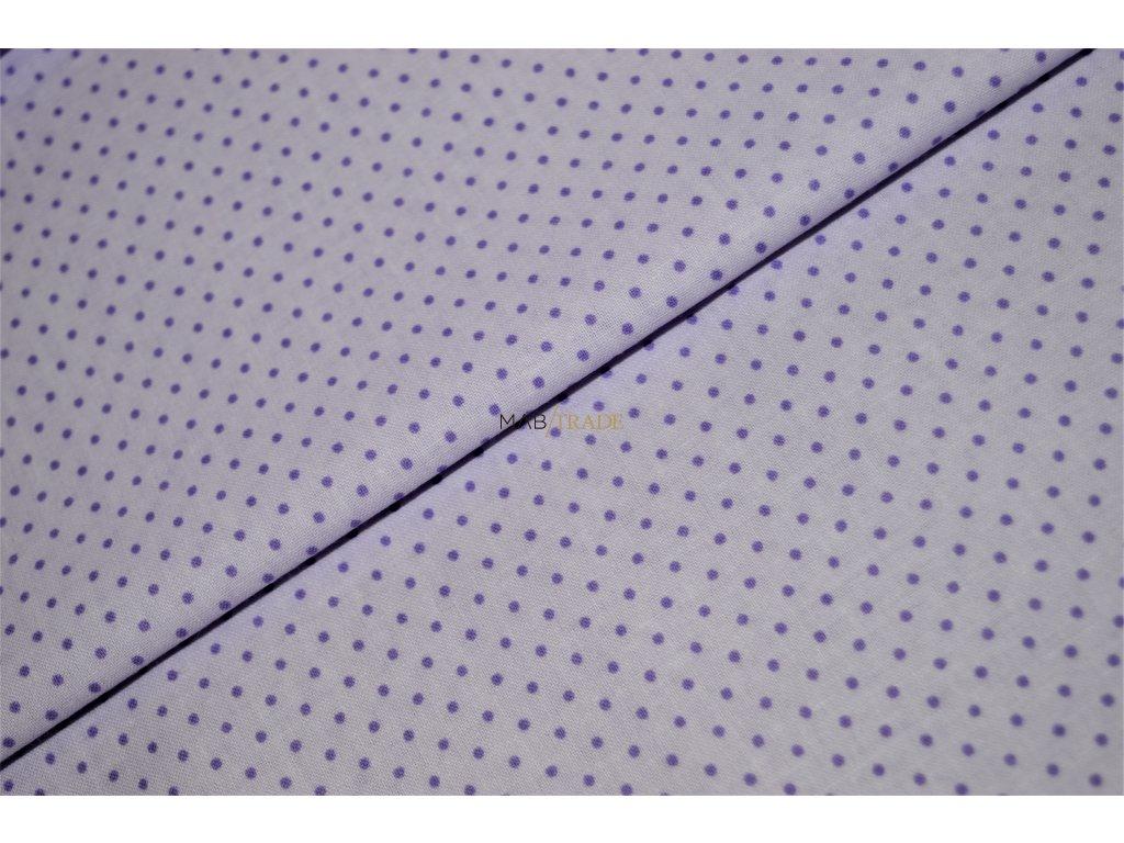PLÁTNO 100% Bavlna Puntík na fialové Kód 1031-117