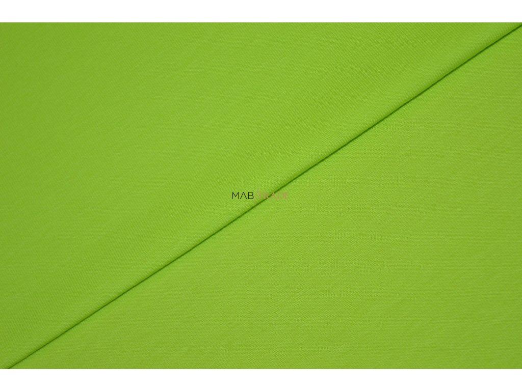 Bavlněný úplet - elastický jednolíc fitness Neo Zelená Kód 2906-1402/C