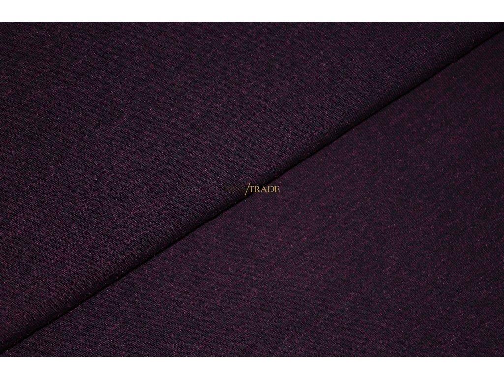Bavlněný úplet - elastický jednolícní fitness melír Lilek Kód 2966-16031