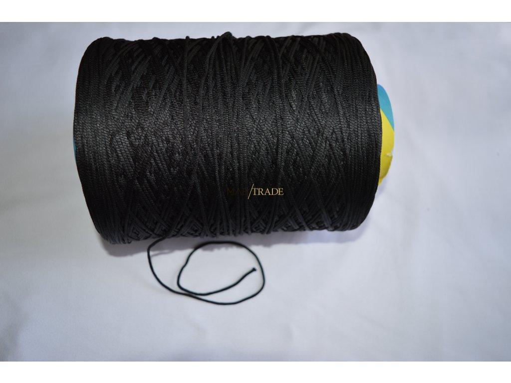 Gumička - Kulatá  Černá 2 mm Kód 0023-4002 ( MINIMÁLNÍ ODBĚR 10m )