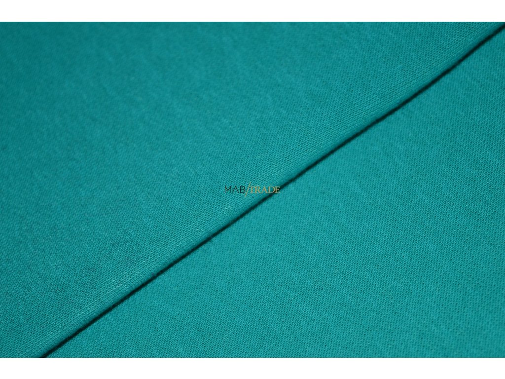 Elastická teplákovina Smaragdová Kód 4216-2404/C