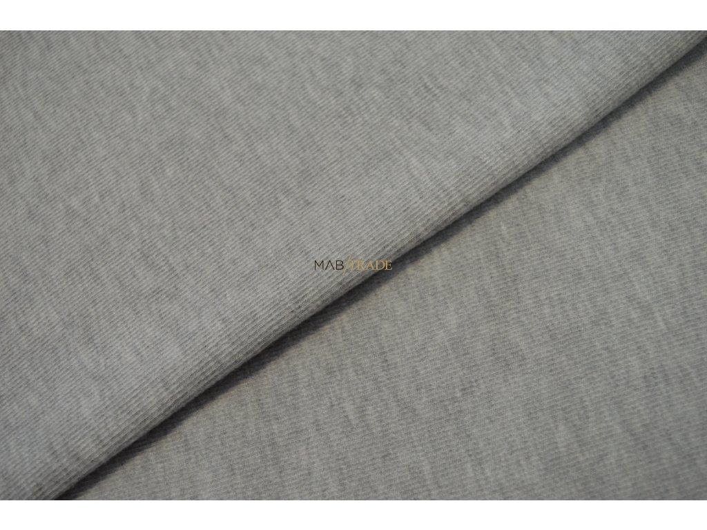 Bavlněný úplet s viskózou Monchi  světle šedý melír Kód 1600-5004