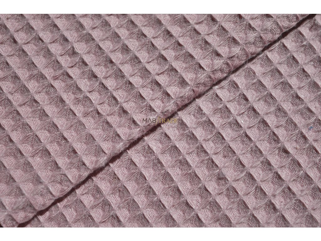 WAFLE - tkanina 100% Ba světlá starorůžová Kód 7410-1604