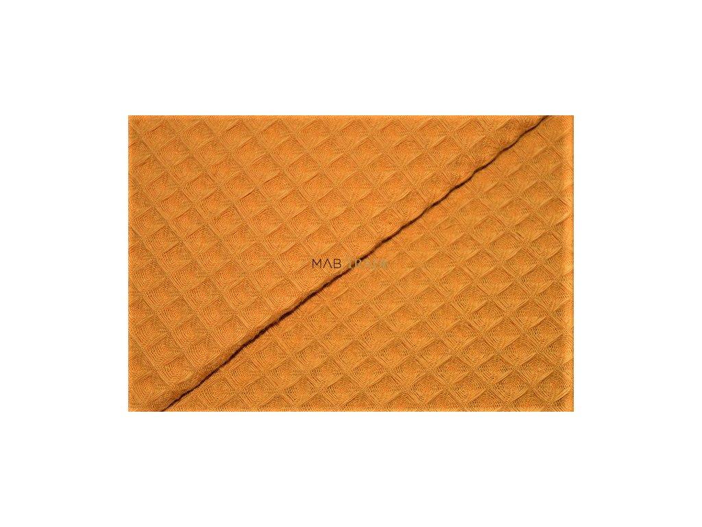 WAFLE - tkanina 100% Ba Hořčice Kód 7410-0545