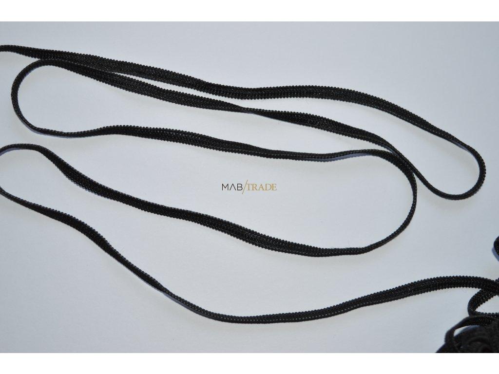 Gumička - pruženka 5mm Černá Kód 0022-4002 MINIMÁLNÍ ODBĚR 10m