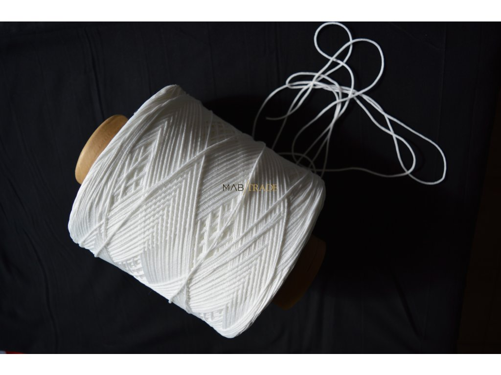 Gumička - Kulatá Bílá 2 mm Kód 0023-0101 ( MINIMÁLNÍ ODBĚR 10m )