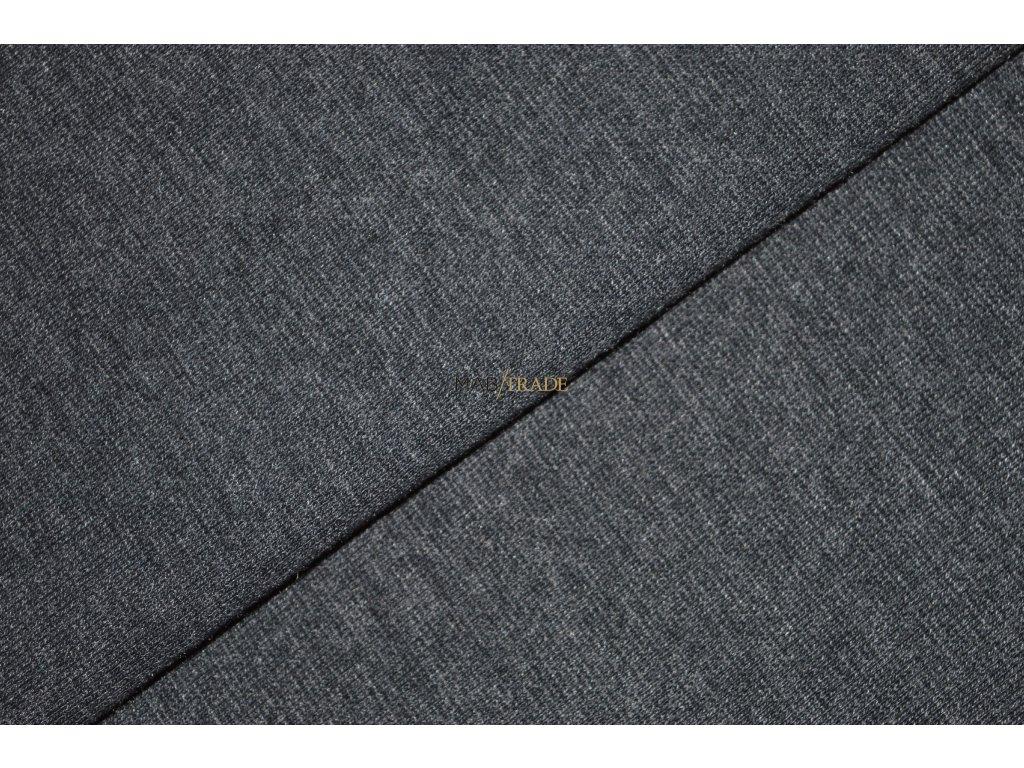 Bavlněný úplet - elastický jednolícní fitness melír Šedo fial. Kód 2966-5109