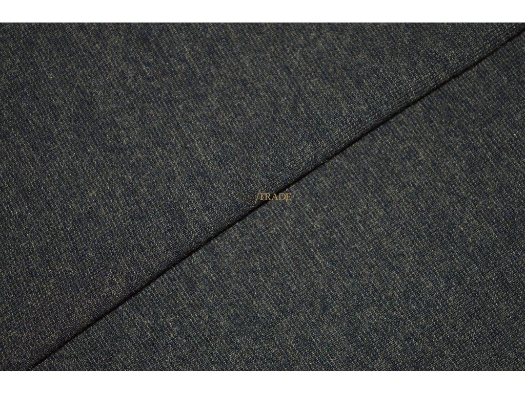 Bavlněný úplet - RIB 1x1 hladký s melírem Koka Kód 6201-5103