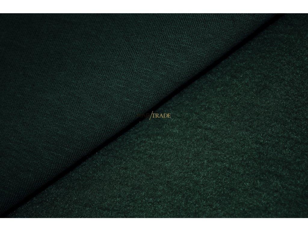 Teplákovina Ba/Pes počesaná tmavě Zelená Kód 4220-2207