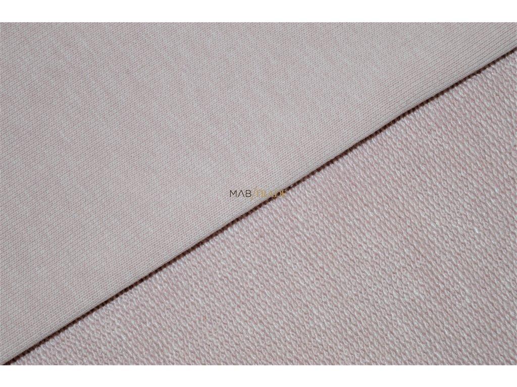 Elastická teplákovina Třinitka  středně Růžová Kód 4225-0903