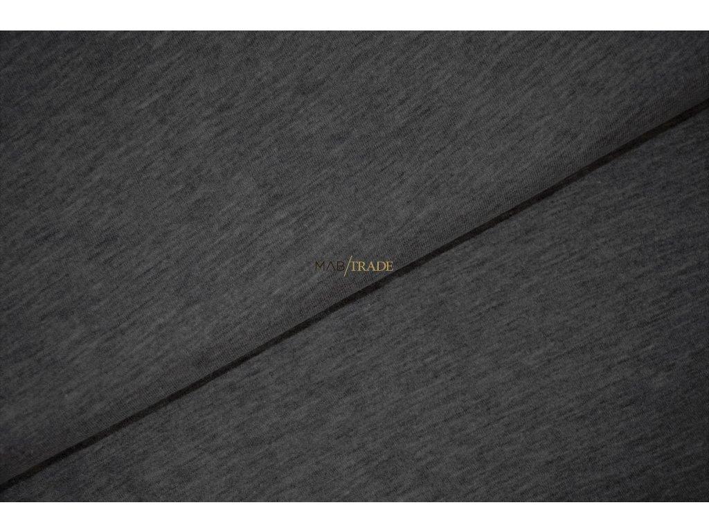 Teplákovina Ba/Pes počesaná tm. Šedý melír Kód 4220-88687