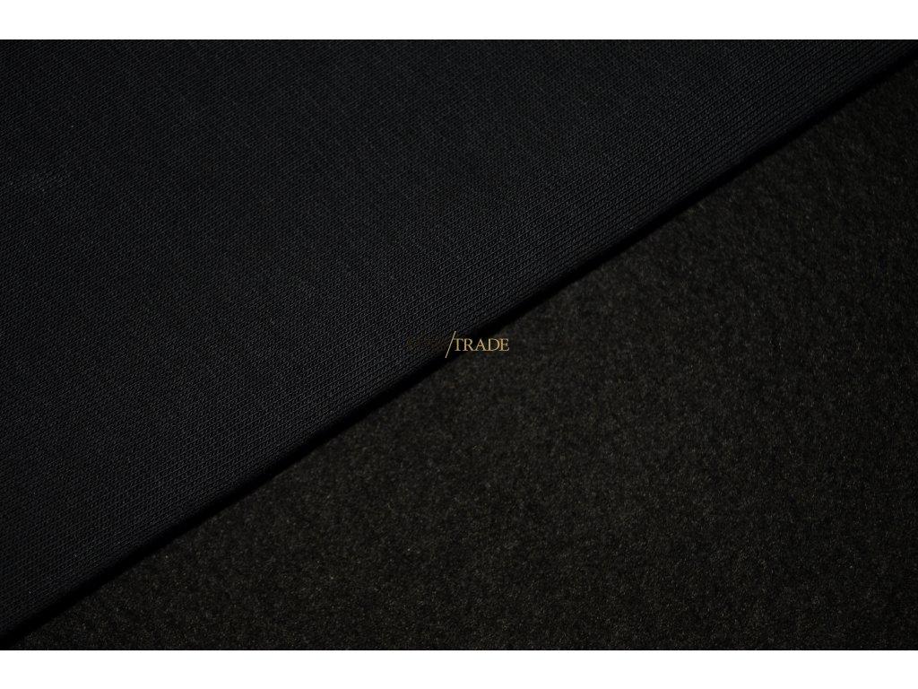 Elastická teplákovina  Ba/Pes počesaná tmavě Hnědá Kód 4220-2304