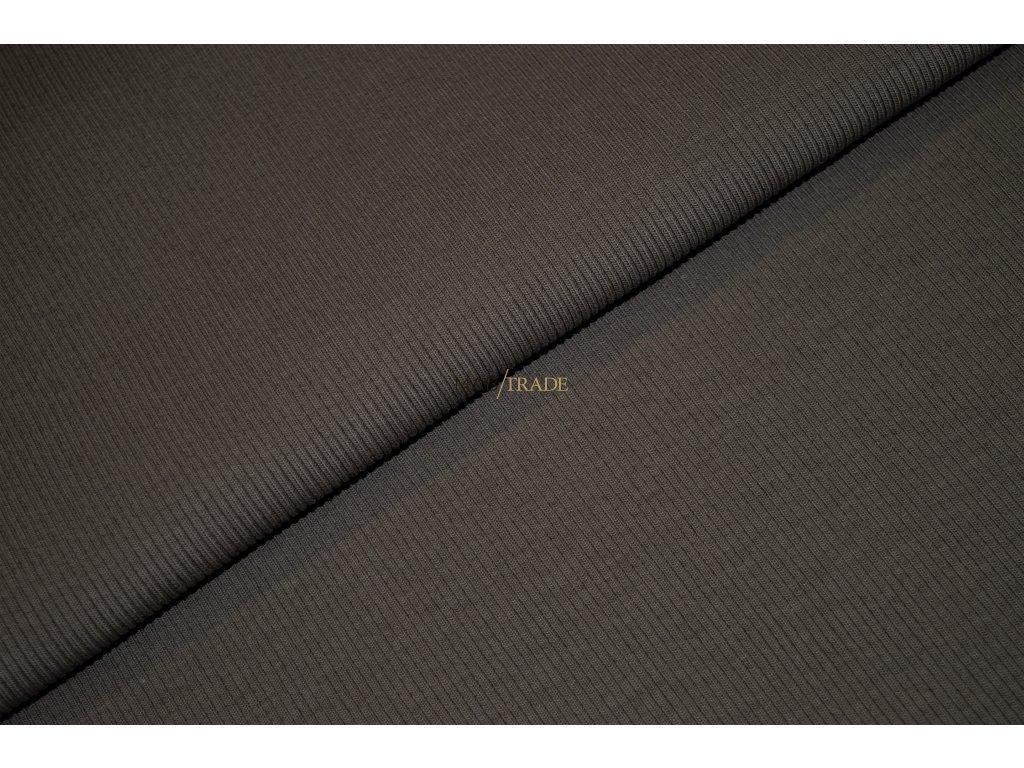 Bavlněný úplet - RIB 2x1 hrubý Nugátový Kód 6222-2302