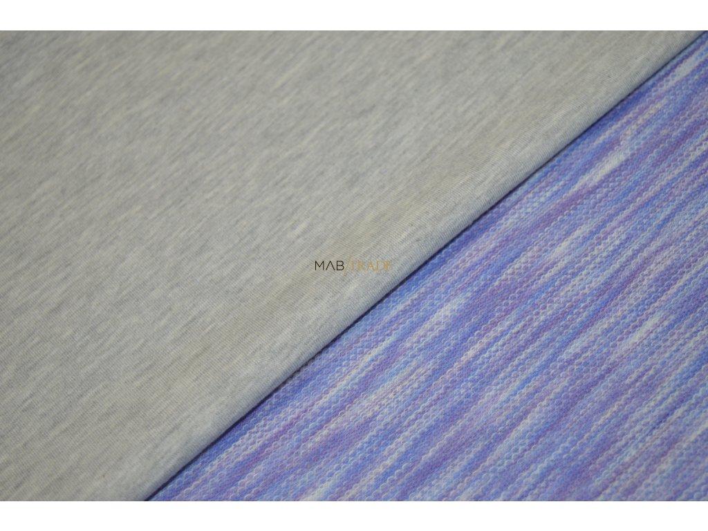 Elastická teplákovina s polyesterem OBOUSTRANNÁ  Kód 4276-8002