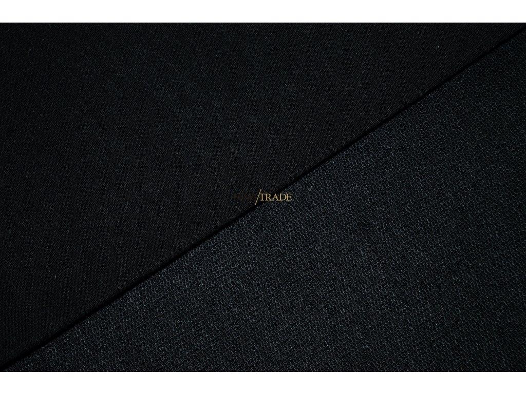 Elastická  teplákovina Viskózová nepočesaná  Černá Kód 4229-4002