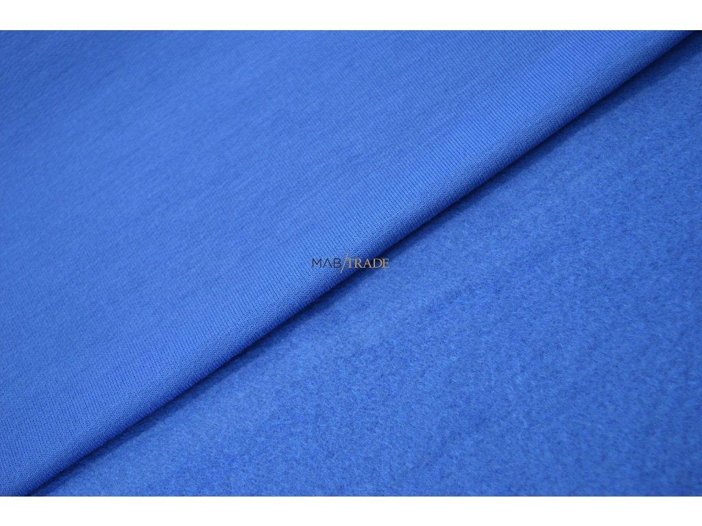 Elastická teplákovina Viskózová počesaná Královská Modrá Kód 4219-1902