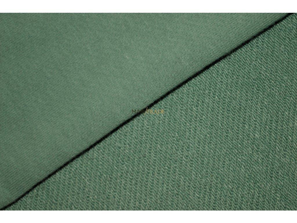 Elastická teplákovina  diagonál Lisa brus Ba/Pes Zelená Kód 4211-1048