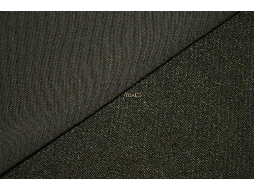 Elastická teplákovina  diagonál Lisa brus Ba/Pes Khaki Kód 4211-2802