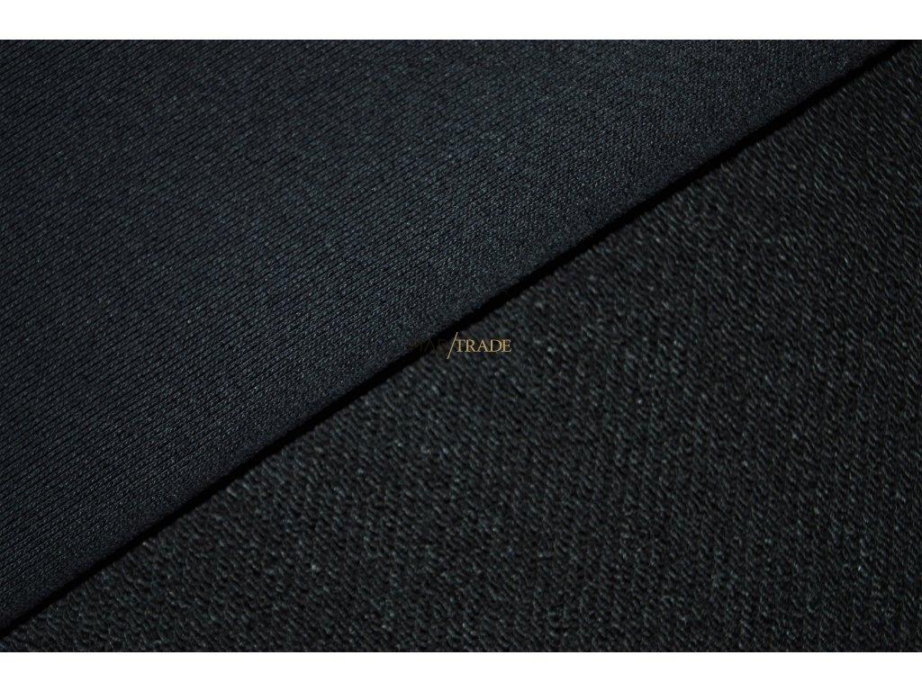 Elastická teplákovina Diagonál Lisa brus Ba/Pes Černá Kód 4211-4002