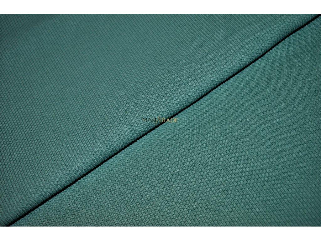 Bavlněný úplet - RIB 2x1 hrubý  Zelený Kód 6222-1048