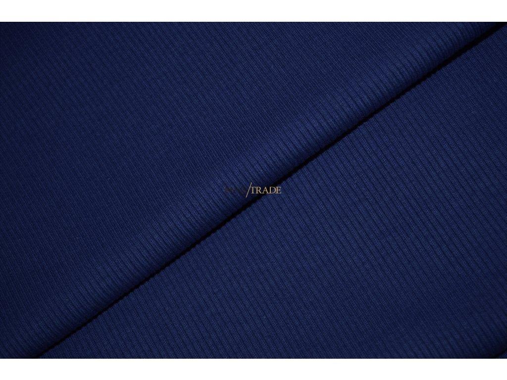 Bavlněný úplet - RIB 2x1 hrubý Královsky Modrý Kód 6222-1902