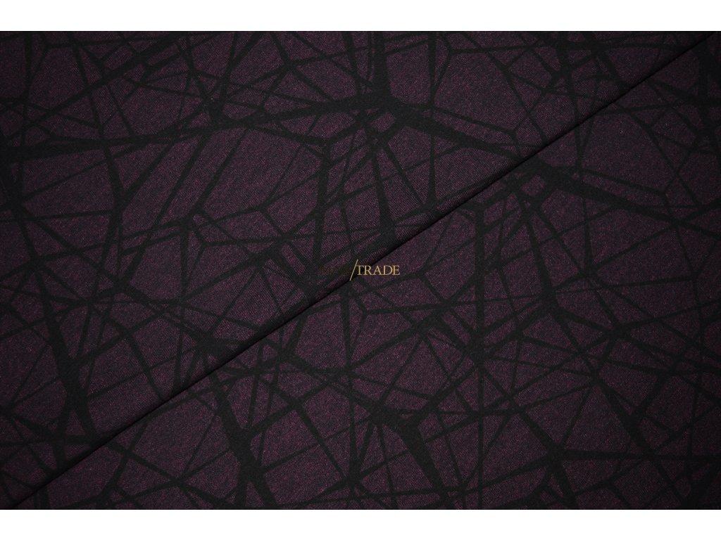 Elastická teplákovina tisk Nepravidelné Čáry na Lilkové Kód 4842-16031
