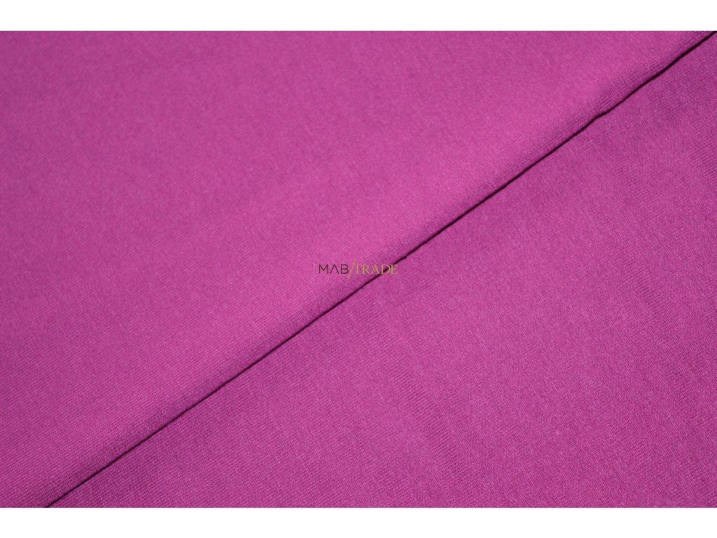 Elastická teplákovina Viskózová  Silky Ostružina  Kód 4230-1605