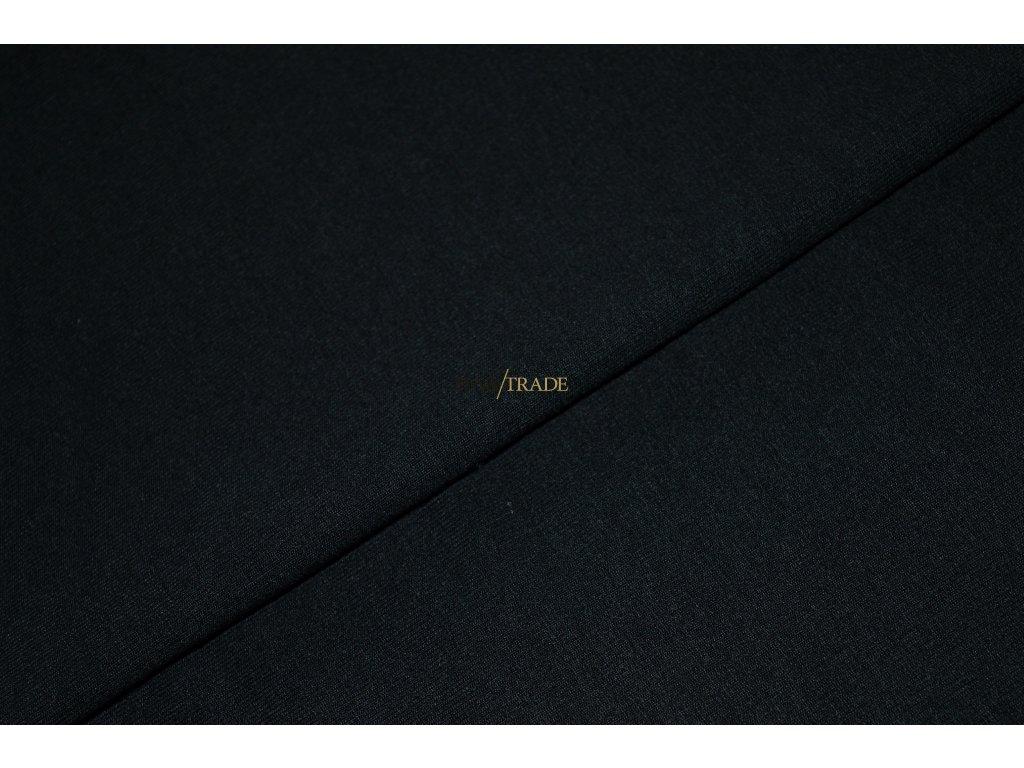 Elastická teplákovina Viskózová Silky Černá Kód 4230-4002