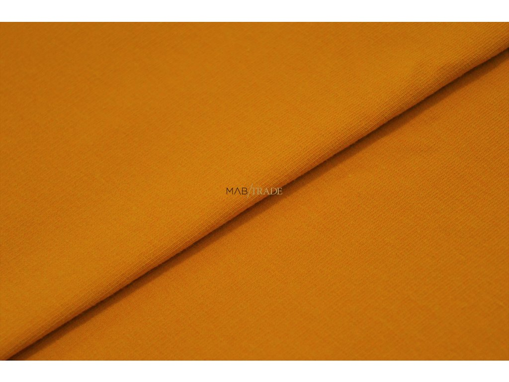 Elastická teplákovina Hořčice Kód 4216-0545